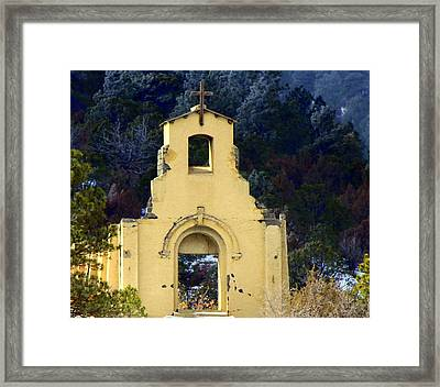 Framed Print featuring the photograph Mountain Mission Church by Barbara Chichester
