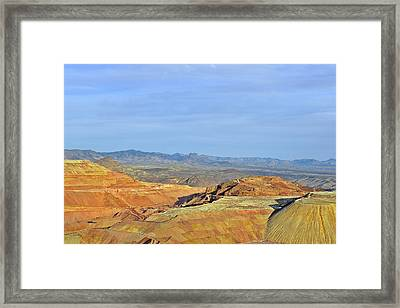 Morenci - A Beauty Of A Copper Mine Framed Print by Christine Till