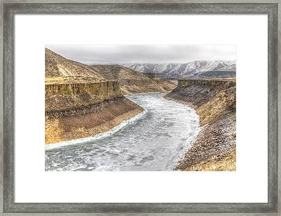 More's Creek Under Ice Framed Print