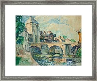 Moret-sur-loing Framed Print by Edgar Rowley Smart
