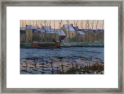 Moret. Winter Framed Print by Maurice Cullen