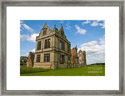 Moreton Corbet Castle 2 Framed Print by Sheila Laurens