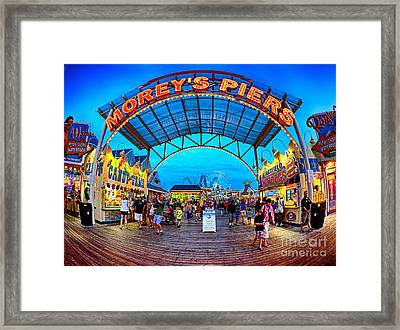 Moreys Piers In Wildwood Framed Print