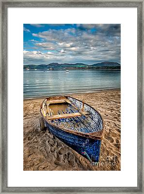 Framed Print featuring the photograph Morfa Nefyn Boat by Adrian Evans