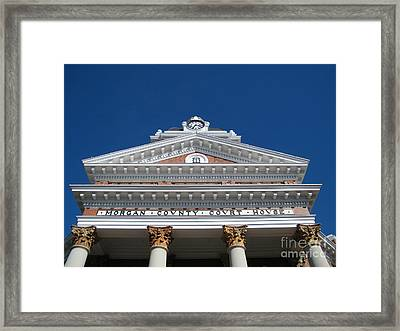 Morgan Cty Courthouse - Madison Ga Framed Print by Cheryl Hardt Art