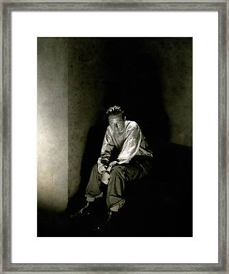 Morgan Farley As Clyde Griffiths Framed Print