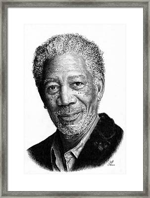 Morgan Freeman Framed Print