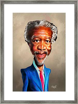 Morgan Freeman Framed Print