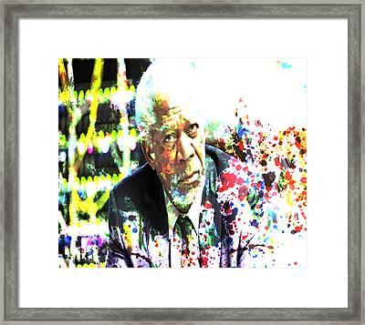 Morgan Freeman Framed Print by Brian Reaves