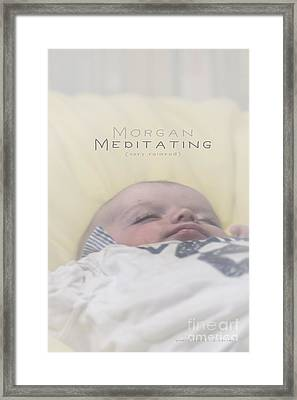 Framed Print featuring the photograph Morgan Meditating 2 by Vicki Ferrari