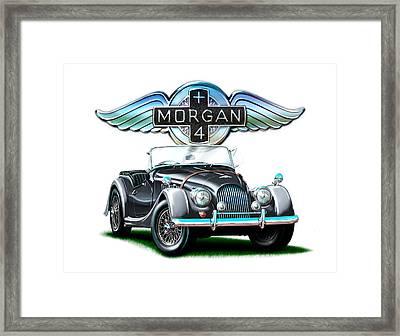 Morgan Plus 4 Blkgray Framed Print by David Kyte