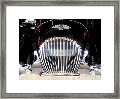 Morgan Sports Car Grille Framed Print by Don Struke