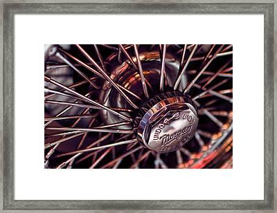 Morgan Wire Wheel Framed Print