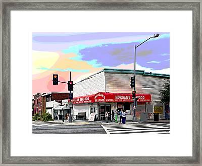 Morgans Seafood Framed Print