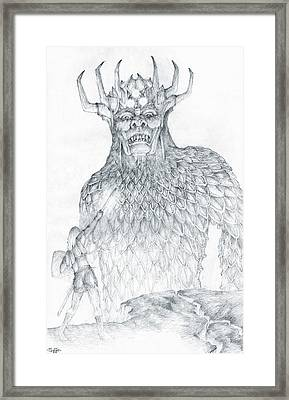 Morgoth And Fingolfin Framed Print