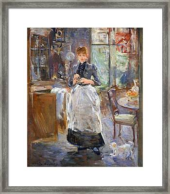 Morisot's In The Dining Room Framed Print by Cora Wandel