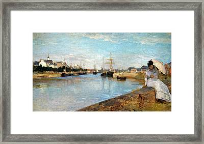 Morisot's The Harbor At Lorient Framed Print by Cora Wandel