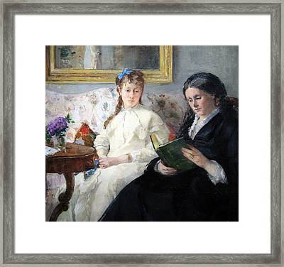 Morisot's The Mother And Sister Of The Artist Framed Print by Cora Wandel