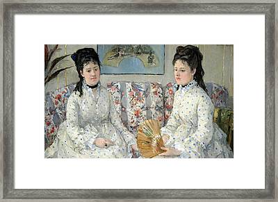 Morisot's The Sisters Framed Print by Cora Wandel