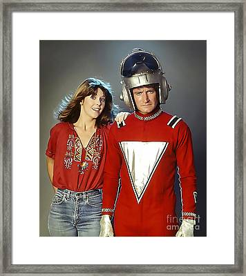 Mork And Mindy Framed Print by Marvin Blaine