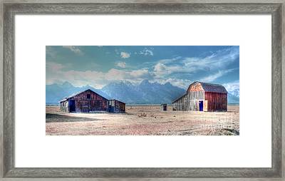 Morman Row Framed Print by Kathleen Struckle