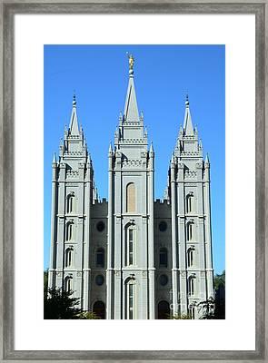 Morman Temple Framed Print by Kathleen Struckle