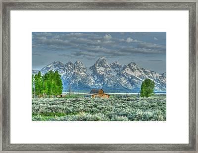 Mormon Barn Spring Framed Print
