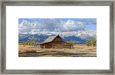 Mormon Barn With Horses Framed Print