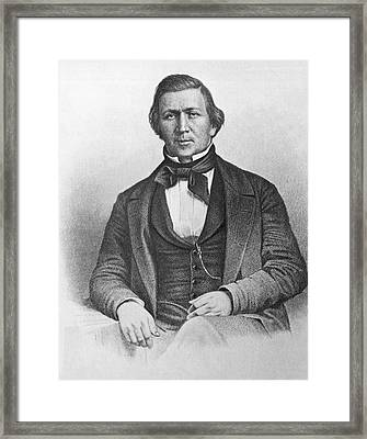 Mormon Leader Brigham Young Framed Print by Underwood Archives