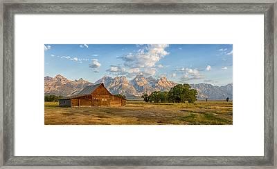 Mormon Row Farm Framed Print by Andres Leon