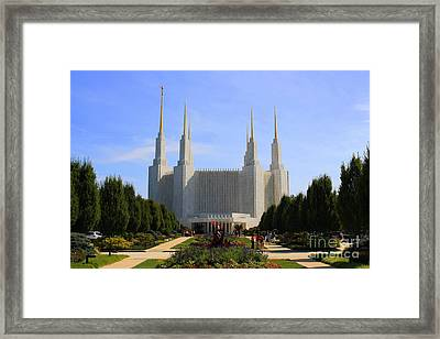 Mormon Temple Dc Framed Print by Patti Whitten