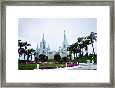 Mormon Temple La Jolla Framed Print