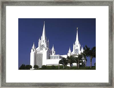 Mormon Temple Framed Print