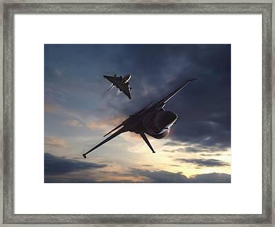 Morning Aerobatics Framed Print by Dorian Dogaru
