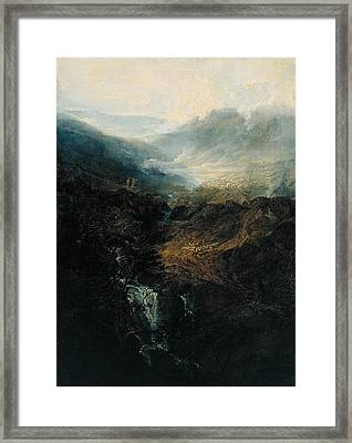 Morning Amongst The Coniston Fells Framed Print by JMW Turner