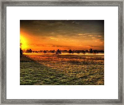 Morning Arrives At Foxfire  Framed Print by Thomas Young