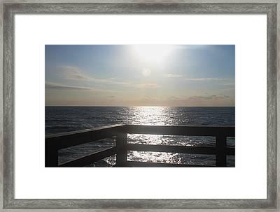 Morning At Avon Pier Framed Print