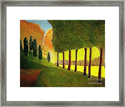 Chambord Morning By Bill O'connor Framed Print by Bill OConnor