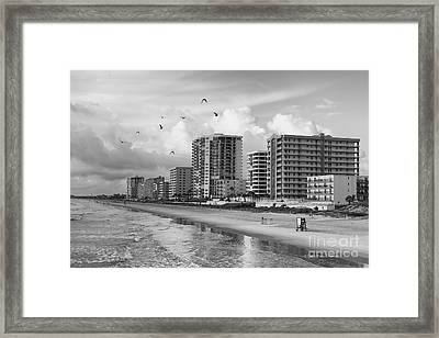 Morning At Daytona Beach Framed Print by Deborah Benoit