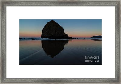 Morning At Haystack Framed Print by Mike Reid
