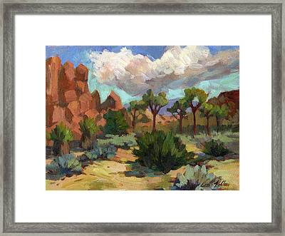 Morning At Joshua Framed Print