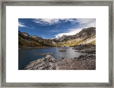 Morning At Lake Sabrina Framed Print