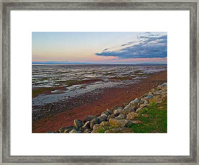 Morning At Minas Basin In Fundy Bay Near Grand Pre-ns Framed Print by Ruth Hager