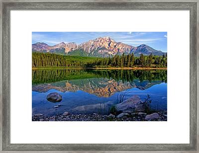 Morning At Pyramid Lake Framed Print