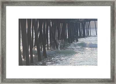 Morning At Rodanthe Pier 4 Framed Print by Cathy Lindsey