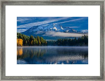 Morning At Siskiyou Lake Framed Print by Greg Nyquist