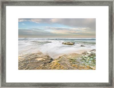 Morning At Tabletop Reef Framed Print by Alexander Kunz