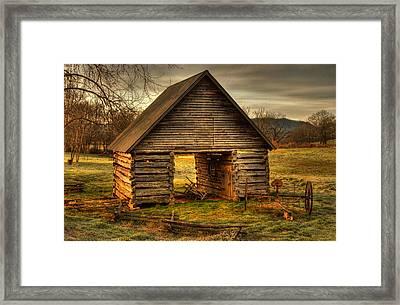 Morning At The Barn Framed Print