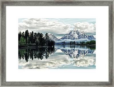 Morning At The Bend Framed Print by Jeff R Clow