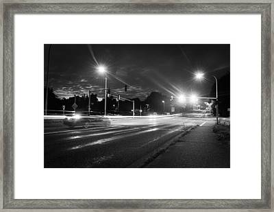 Morning At The Intersection Framed Print by John Rossman